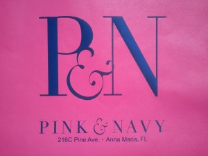 Pink and Navy on Anna Maria Island